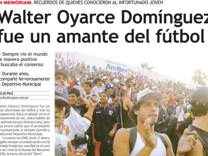 Semblanza publicada hoy en el Diario Oficial El Peruano
