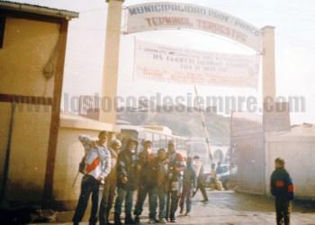 Foto histórica a la llegada a Cerro de Pasco. Foto: LOSLOCOSDESIEMPRE.COM