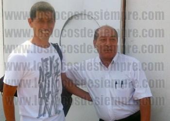 Javier Soria junto a Samuel Astudillo. Foto: LOSLOCOSDESIEMPRE.COM