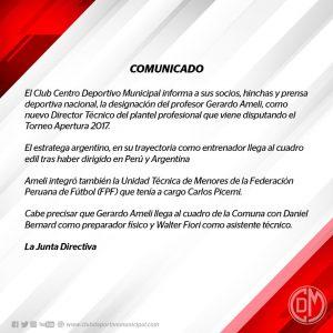 Gerardo Ameli es nuevo entrenador de Municipal