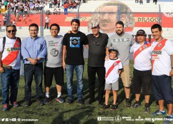 Inauguración del mural del maestro Tito Drago en la tribuna de oriente. Foto: Prensa CDM