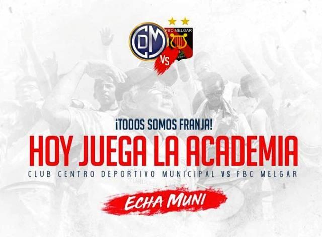Deportivo Municipal enfrenta a FBC Melgar a las 15.30 horas