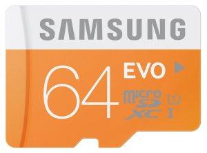 Tarjetas de memoria SD Samsung EVO - 64GB