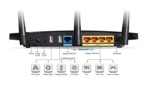 Router TP-Link Archer C7 AC1750 - parte trasera