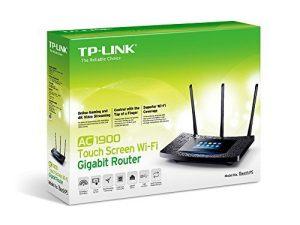 Router TP-Link AC1900 Mbps con pantalla táctil - caja amazon