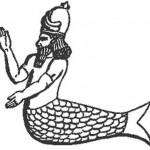 Hombre pez dos tipos, los terrestres y los acuáticos, cooperaron en la antigüedad.