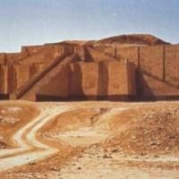 Templo de Zigurat en Ur Mesopotamia.