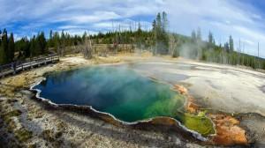Parque Yellowstone un volcán muy activo.