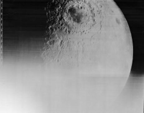 La Luna como visualizó la Sonda Orbiter en 1968.