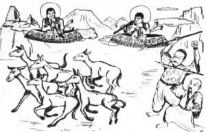 Representación de los siervos de Dios ejecutando ordenes simples.