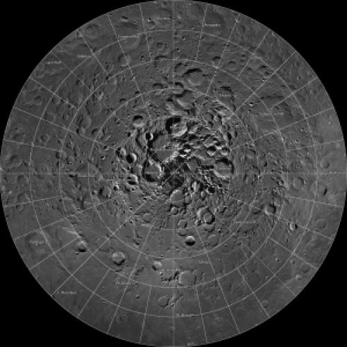 """Polo Norte Lunar """"Mosaico""""."""