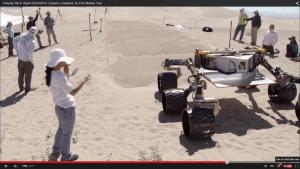 El Rover en proceso de pruebas terrestres.