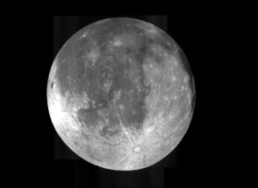 color luna según La Nasa