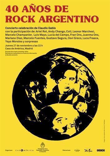 cartel 40 años de rock argentino