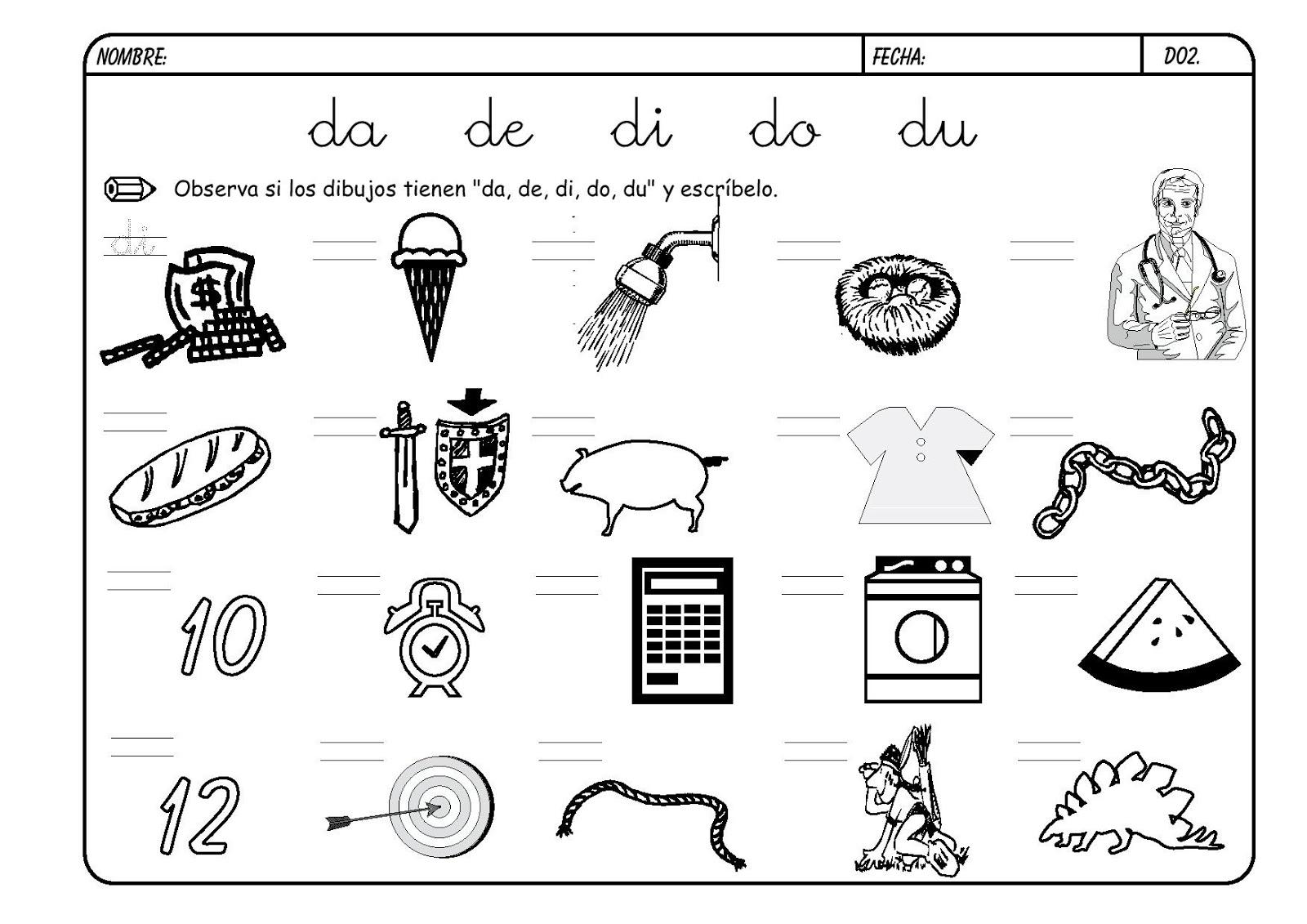 Lectoescritura Letra D Metodo Boo 2