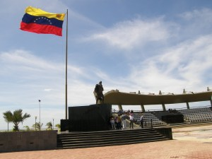 Una statua di Francisco de Miranda in Venezuela