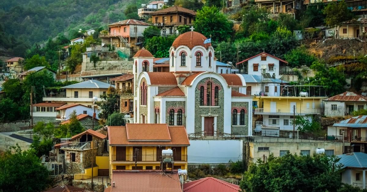 Una veduta dall'alto di Cipro