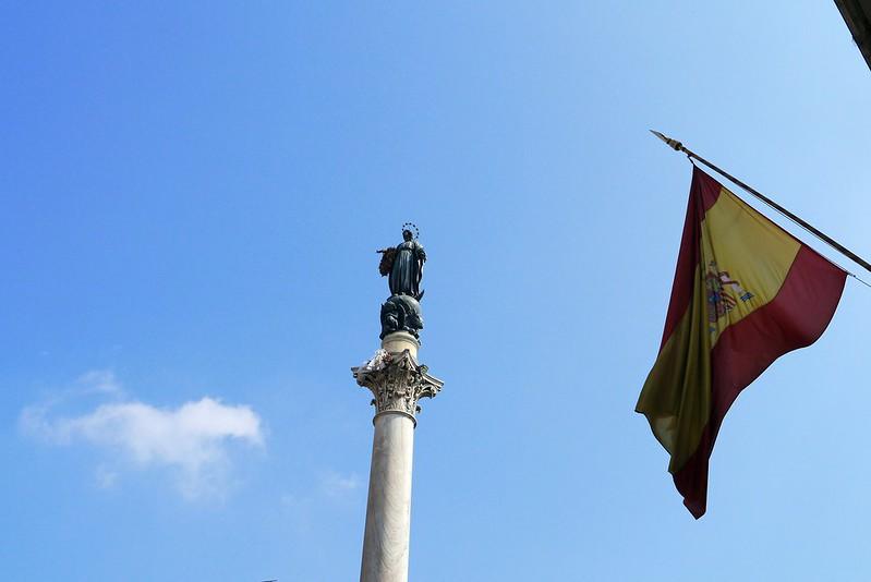 Uno scorcio di piazza di Spagna, sede dell'ambasciata spagnola in Italia