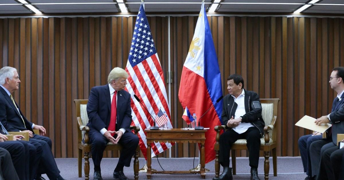 Un meeting tra Trump e Duterte