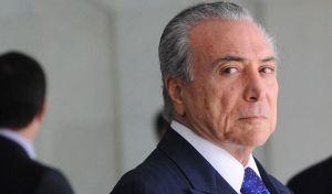 Un primo piano del presidente del Brasile Michel Temer