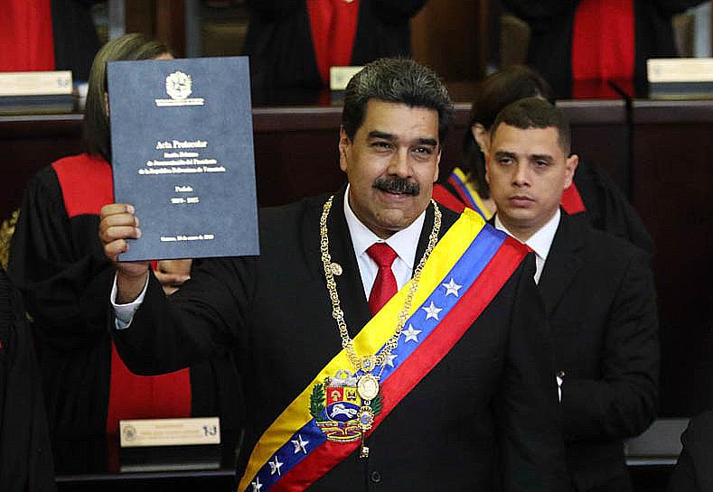 Il giuramento del Presidente del Venezuela, Nicolas Maduro