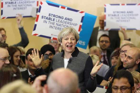 elezioni - UK - GB - 2017 - Conservatori - Thresa May - programma - sondaggi - Corbyn