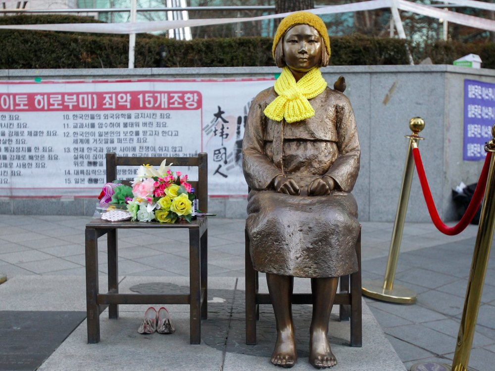 statue-of-a-girl-symbolizing-the-issue-of-comfort-women-in-front-of-the-Japanese-Embassy