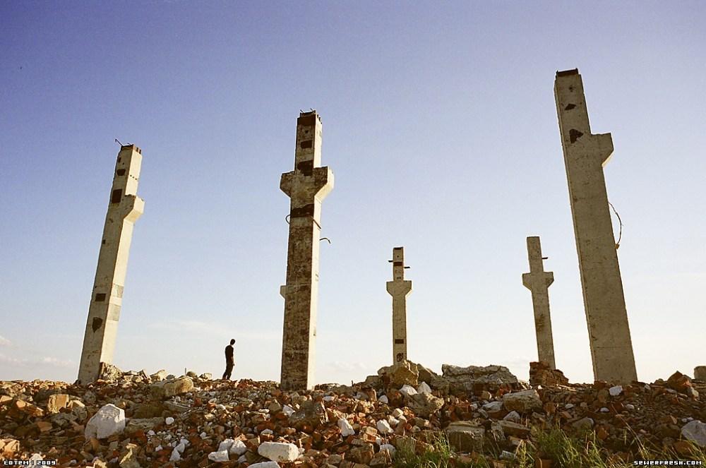 I resti della base militare sovietica a sud-est di Ulan Bator, in Mongolia.