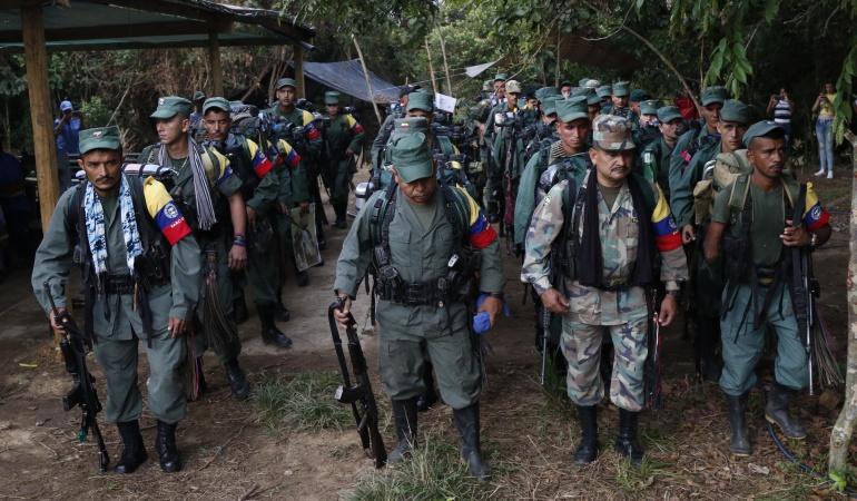 Conflitto Farc Colombia: alcuni guerriglieri consegnano le armi