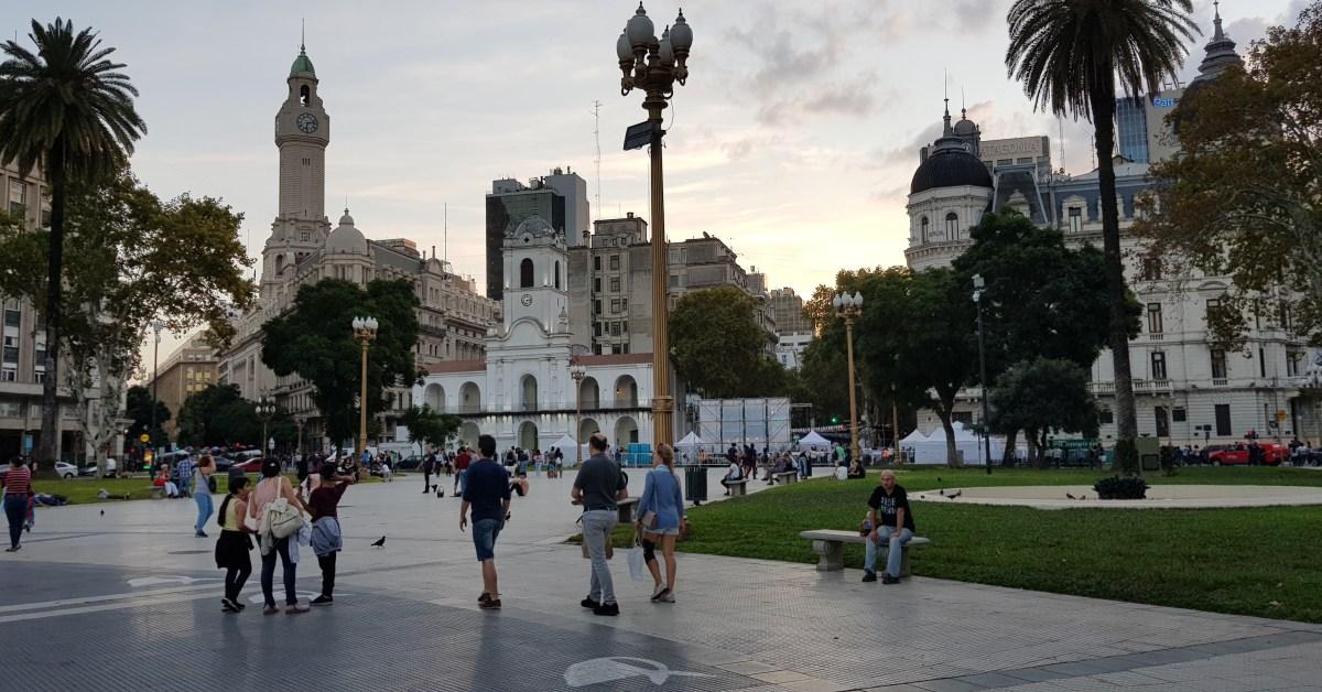Vista plaza de mayo