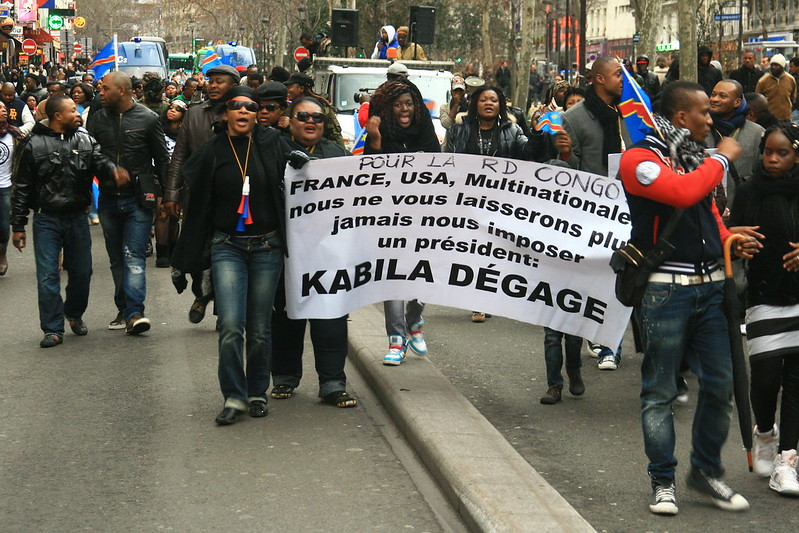 Protesta congolesi contro Kabila