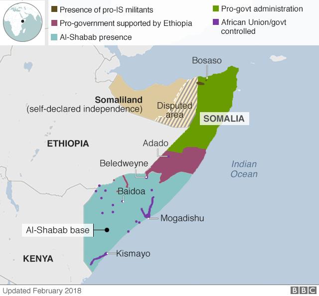 Mappa Somalia divisioni