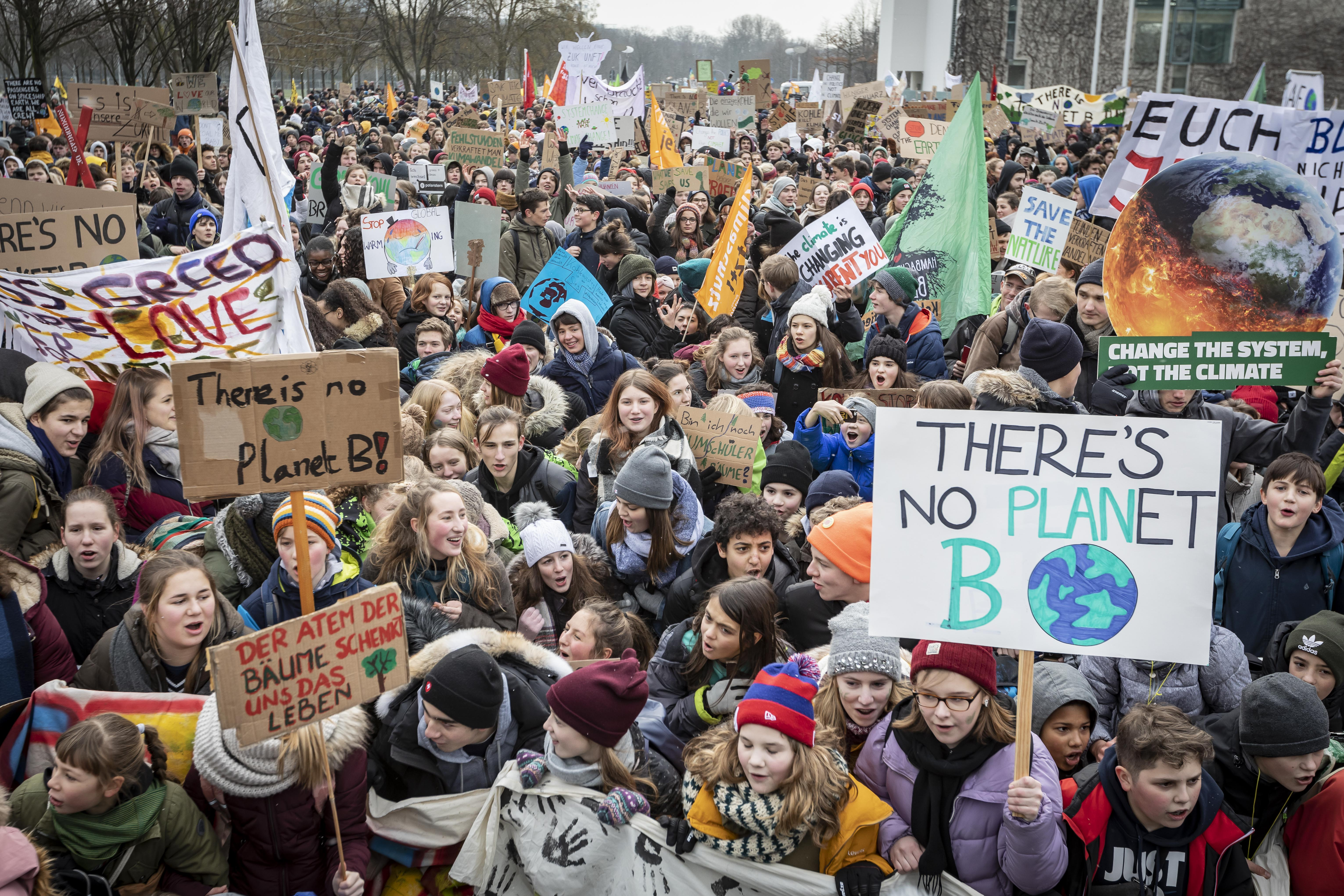 manifestazione del fridays for future a Berlino