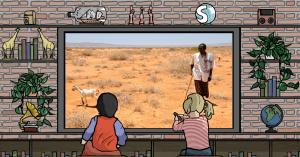 La terra arida a causa della carestia del 2011 nel Corno d'Africa