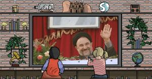 Mohammad Khatami, presidente dell'Iran nel 2001
