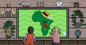 La mappa dello Zimbabwe, la cui storia si lega a Walter Kamba