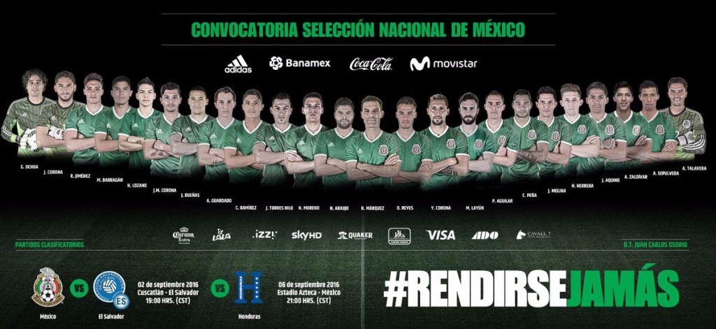 México convocatoria Rusia 2018