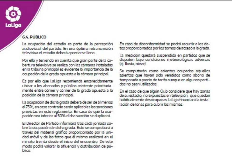 estadios sancion liga española