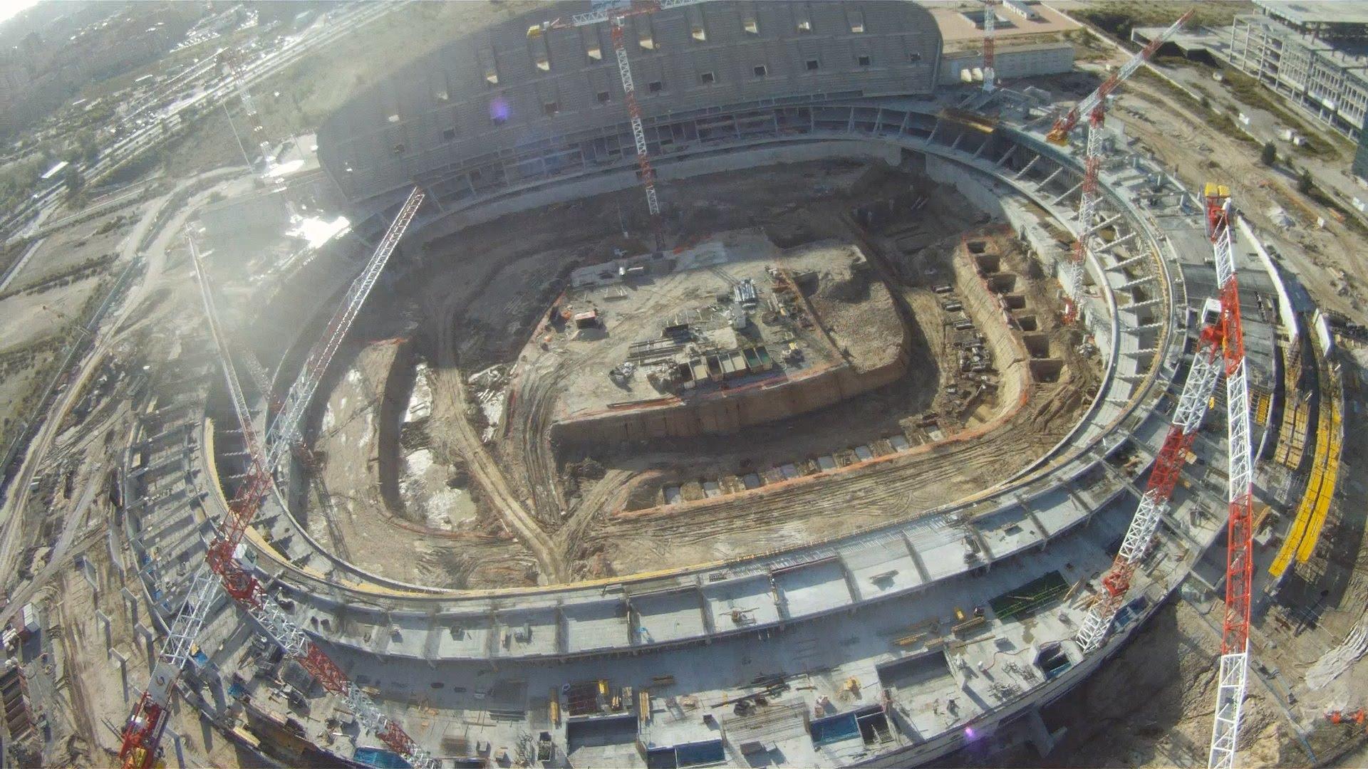 Estadios en construcción