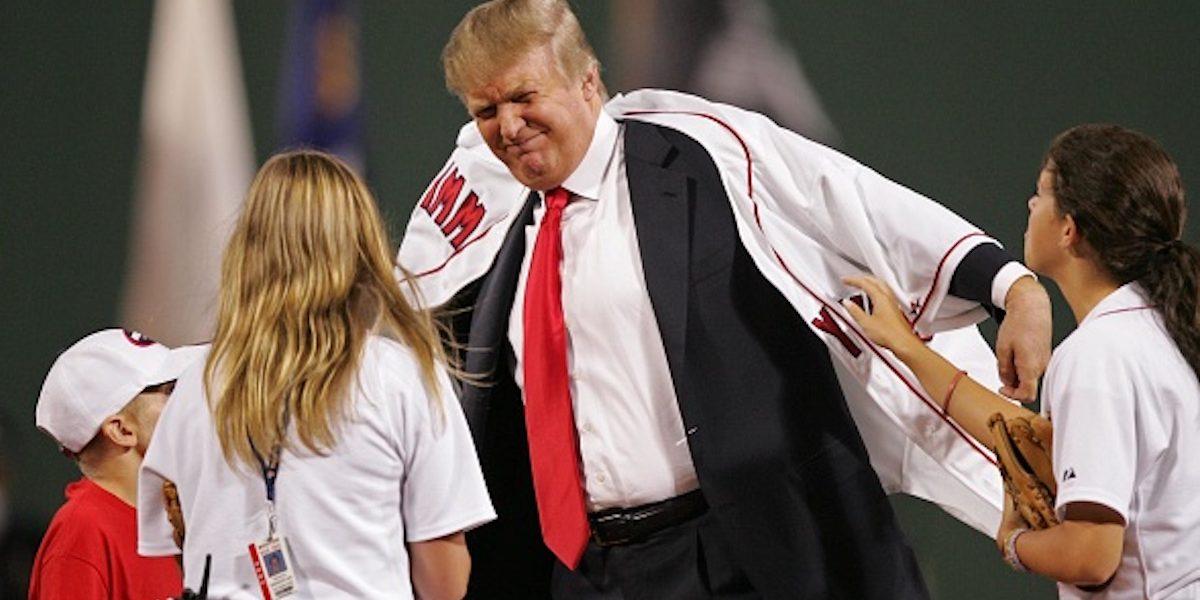 Donald Trump Lanzamiento primera bola National Washington