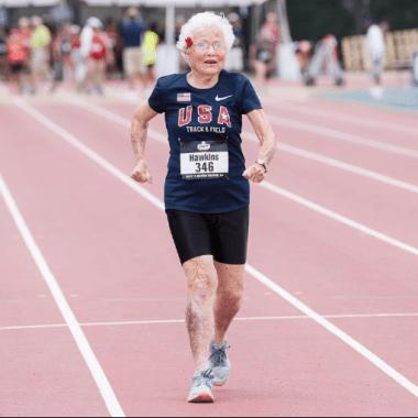atletismo, record, mujer, 100 años, metros planos, Estados Unidos