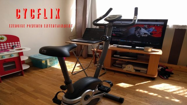 netflix, bicicleta, estacionaria, pedalea, Cycflix, ejercicio, bloquea, plataforma