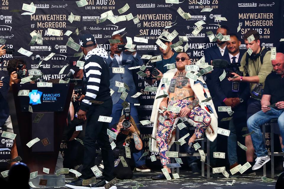 Conor McGregor apuestas quiebra Mayweather Las Vegas