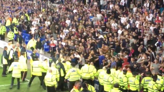 Everton, Europa League, disturbio, aficionados croatas, Liverpool, futbol europeo, Hajduk Split