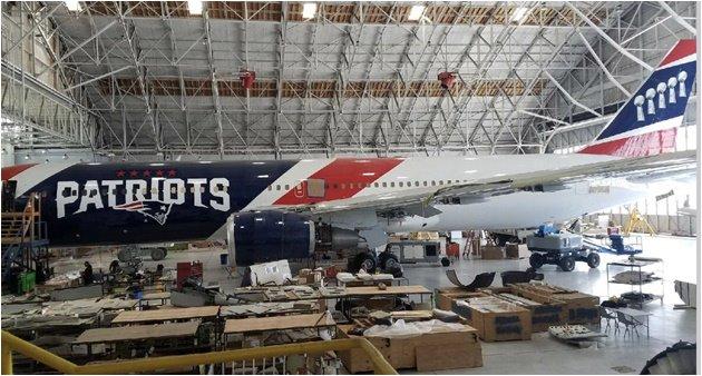 Patriots NFL Aviones privados Boeing
