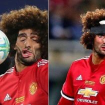 Fellaini, rostro desfigurado, balonazo, mural, Supercopa, Europa, Manchester United, Real Madrid, Mural, Australia