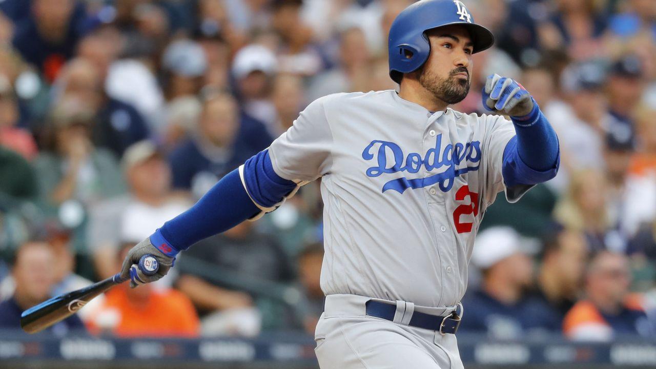 Adrián González récord hits Grandes Ligas