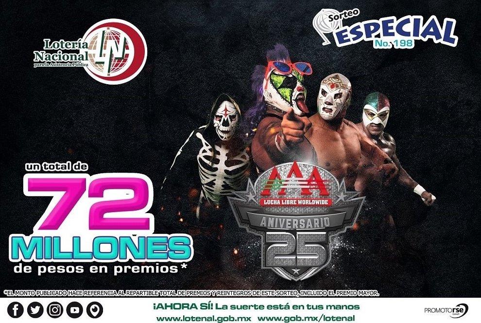 AAA Lotería Nacional sismo sorteo Wagner Psycho Clown