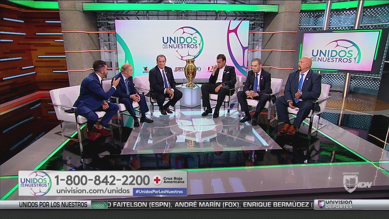 Univisión Deportes, Transmisión especial, donativos, sismo, debate, ESPN, Fox Sports, Tv Azteca, José Ramón Fernández, André Marín, Perro Bermudez