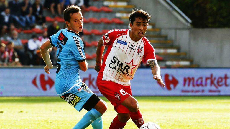 Omar Govea, Once ideal, Bélgica, gol, tiro libre, Royal Excel Mouscron